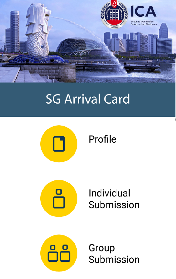 """ICA To Trial Beta Version Of """"SG Arrival Card"""" e-Service  And Mobile Application With Selected Transport Operators"""