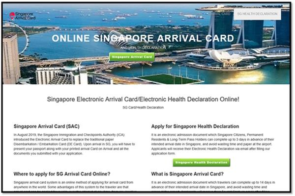 Fake Sg Arrival Card Website