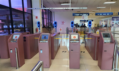 Automated immigration lanes with iris and facial scanning at Tanah Merah Ferry Terminal