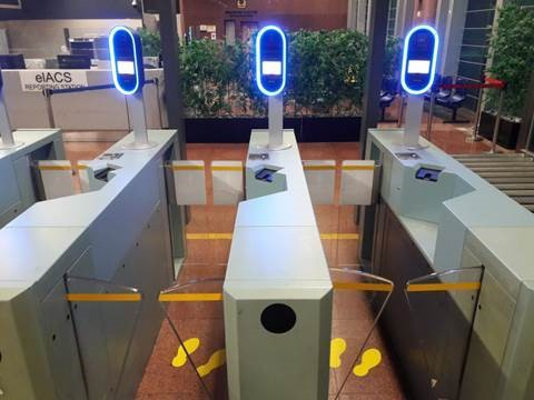 Automated immigration lanes with iris and facial scanning at Tuas checkpoint