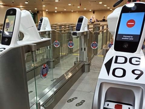 Automated immigration lanes with iris and facial scanning at Woodlands checkpoint